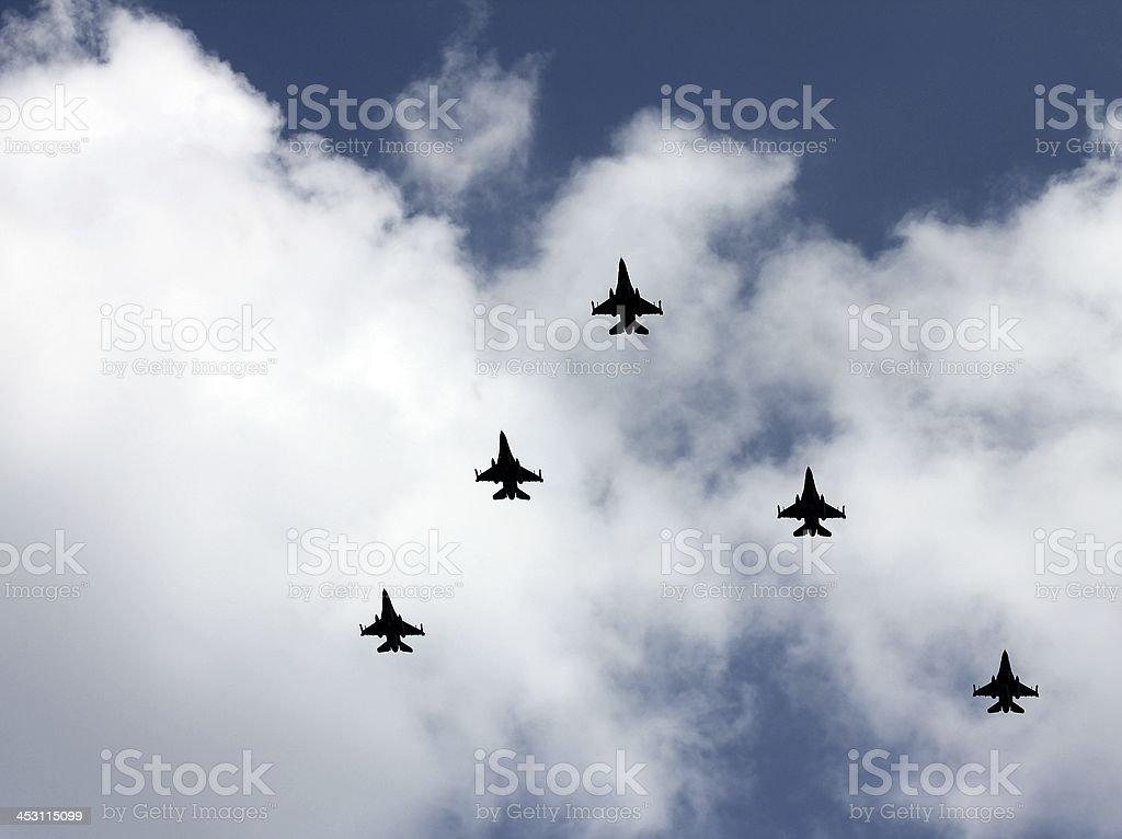 Jetfighters royalty-free stock photo