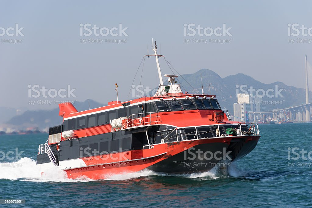 Jetfoil ferry in Hong Kong stock photo