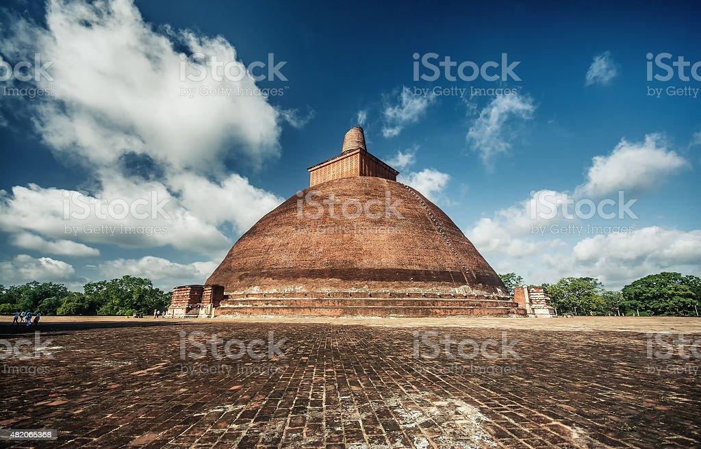 Jethawanaramaya, d'Anuradhapura, le plus grand temple bouddhiste monument au Sri Lanka - Photo