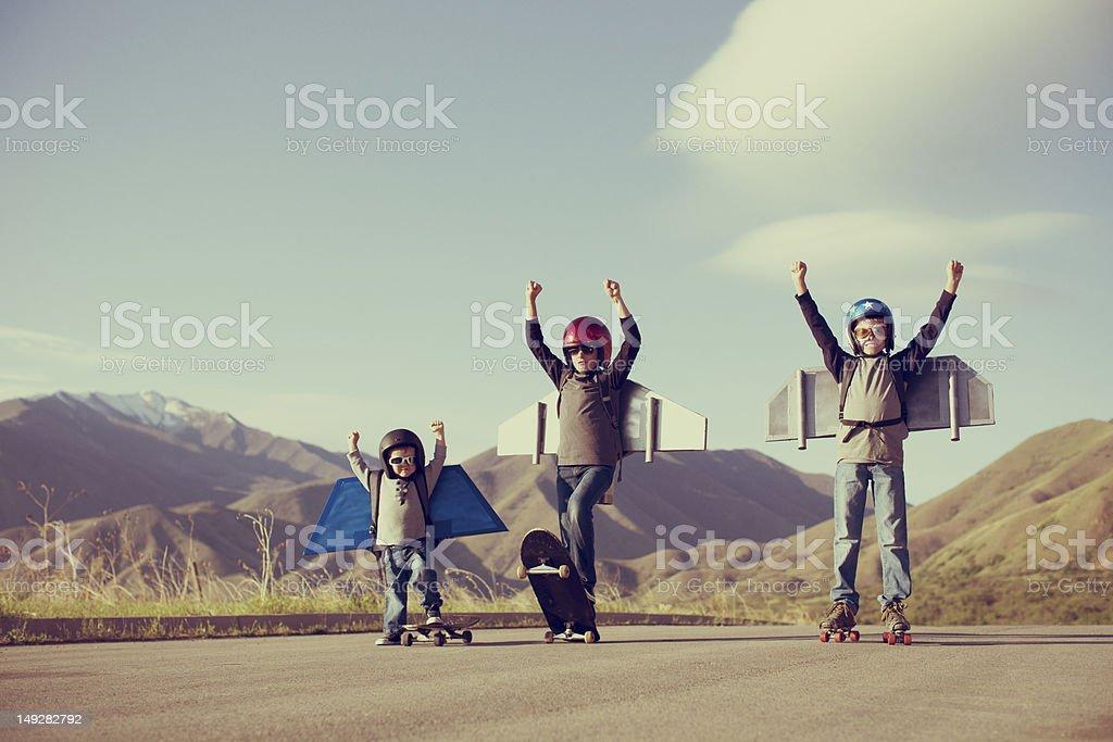 Jetpack niños - foto de stock