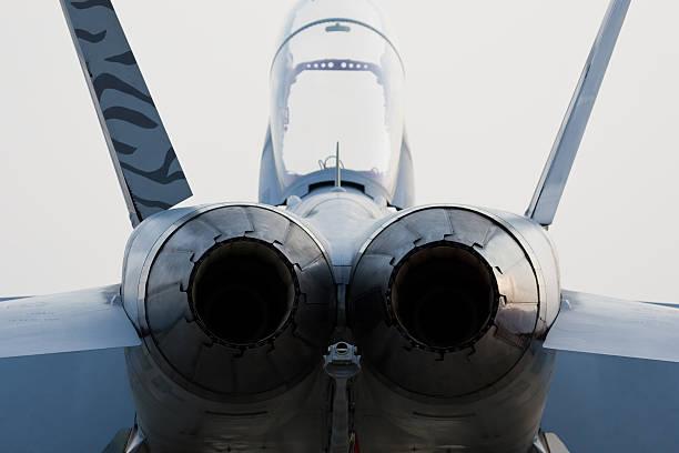 Jet's engines stock photo