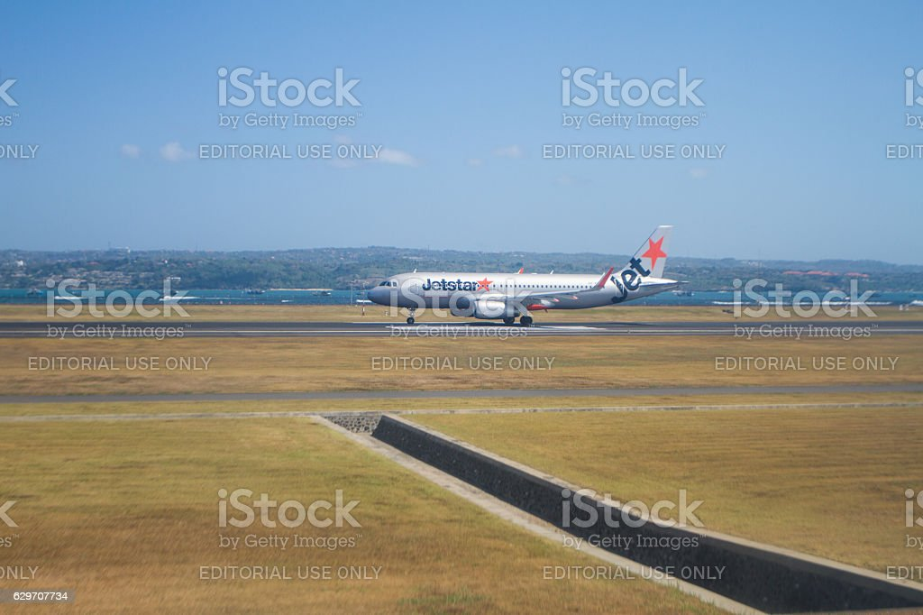 Jetstar Airways Bali Indonesia stock photo