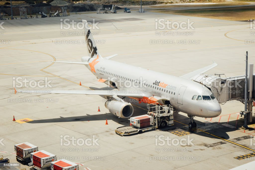 Jetstar Asia Airbus 320 stock photo
