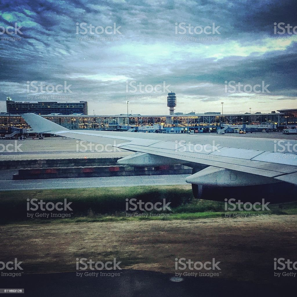 Jetting off on holiday stock photo