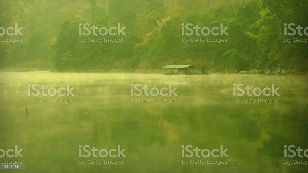 Jetty and fishing royalty-free stock photo