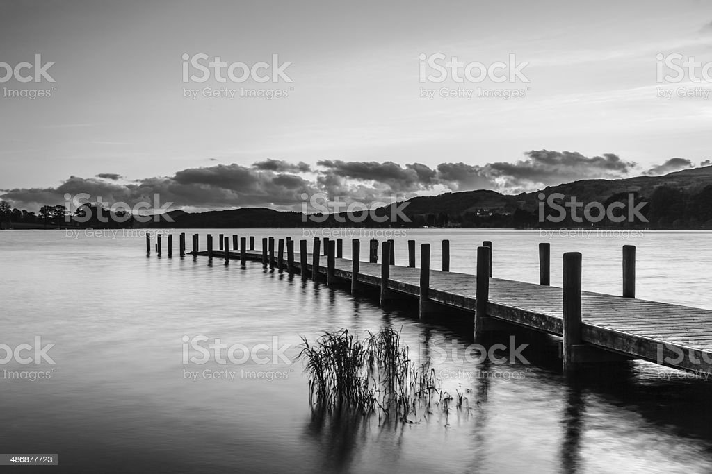 Jetty and Reeds stock photo