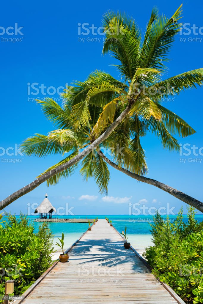 Anlegestelle in Canareef Resort Malediven Herathera Island, Addu Atoll, Malediven – Foto