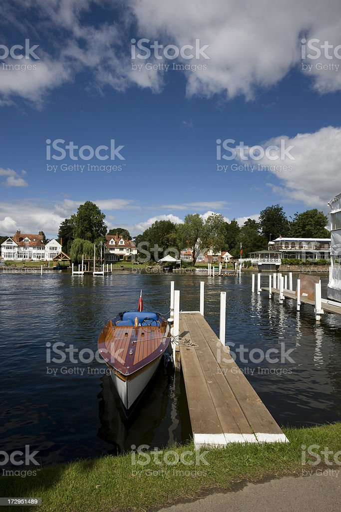 Jetty at Henley on Thames stock photo