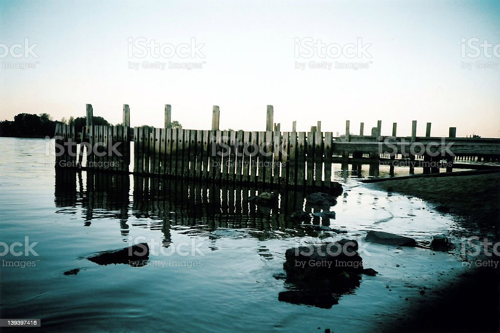 Jetty - Derelict royalty-free stock photo