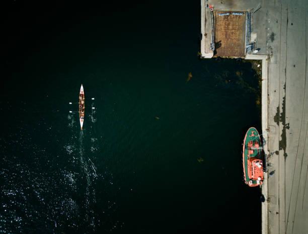 brygga från ovan - drone copenhagen bildbanksfoton och bilder