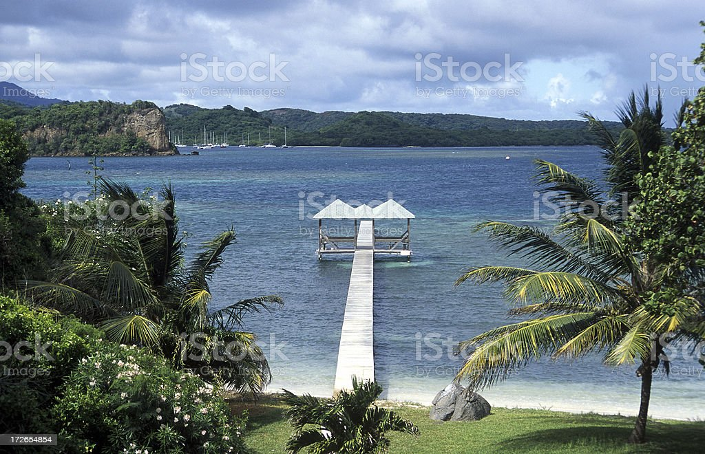 Jetty Grenada royalty-free stock photo