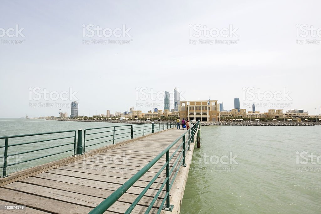Jetty in Kuwait Bay royalty-free stock photo
