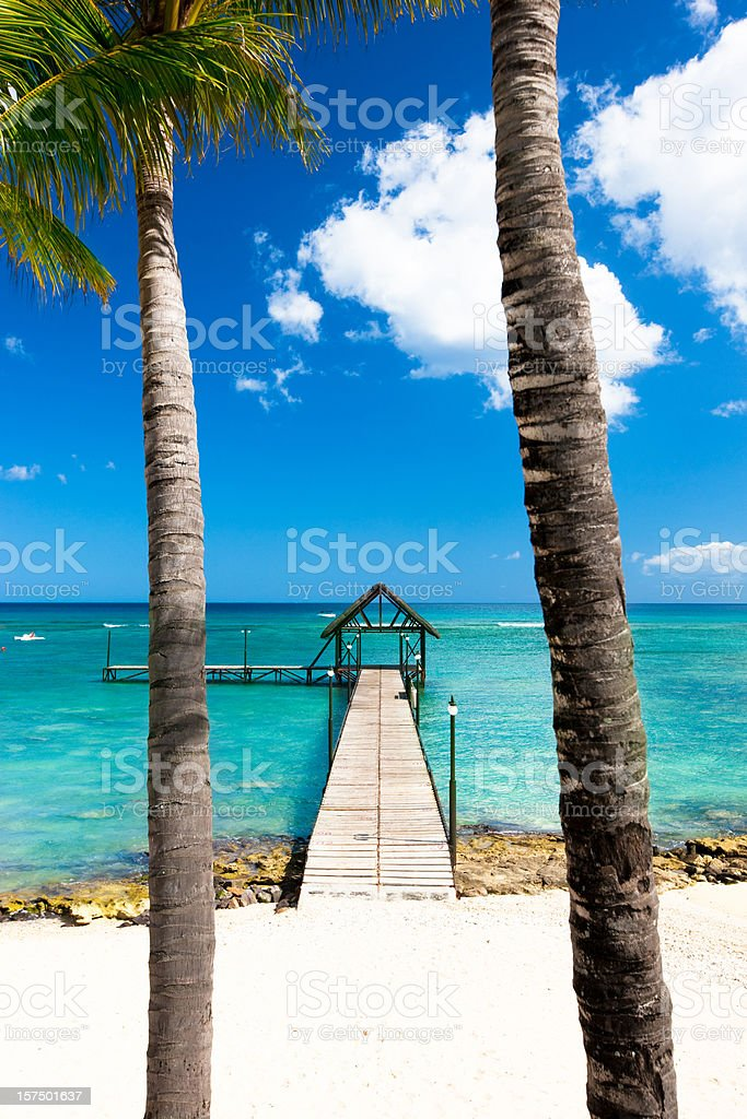 Jetty in paradise royalty-free stock photo