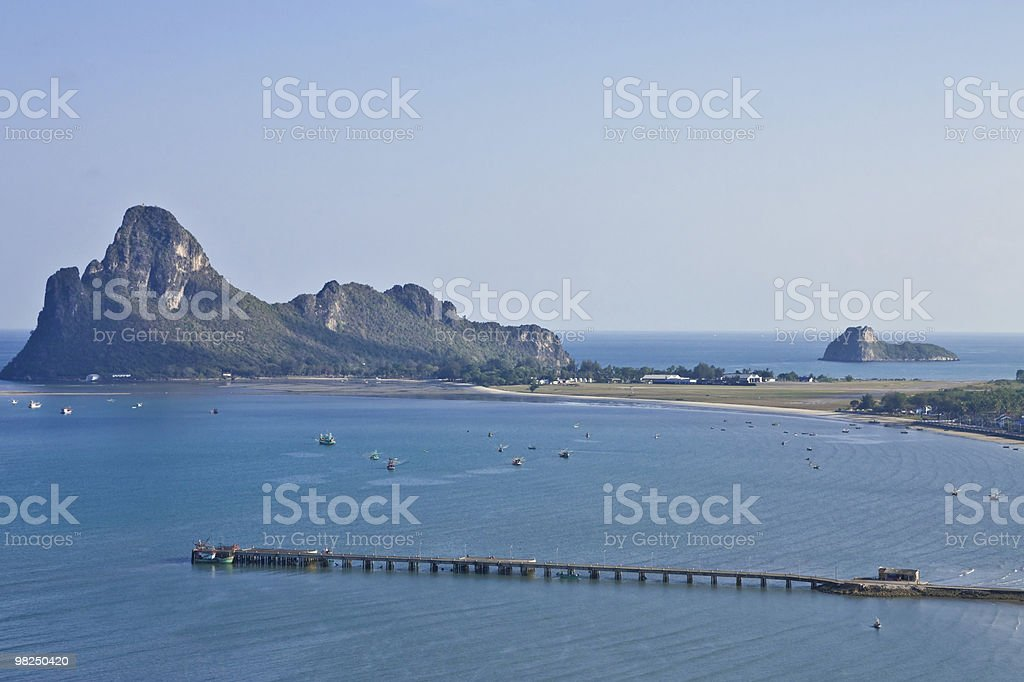 Jetty in southern Thai sea royalty-free stock photo