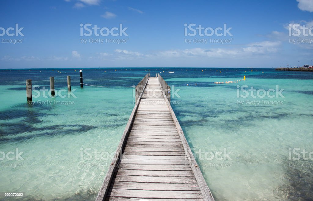 Jetty into the Blue stock photo