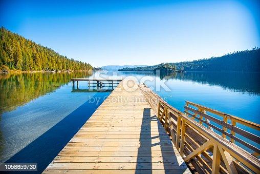 This jetty sits at Vikingsholme at South Lake Tahoe