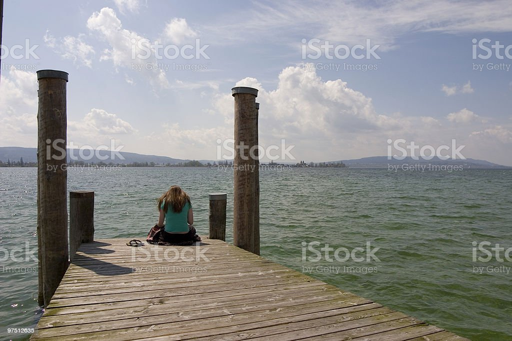 Jetty on a Lake royalty-free stock photo