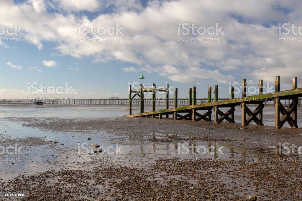Jetty On Jubilee Beach Southendonsea Essex England Stock