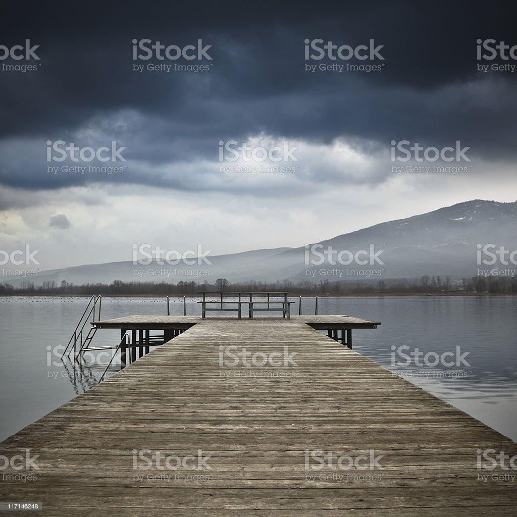 Jetty on Lake royalty-free stock photo