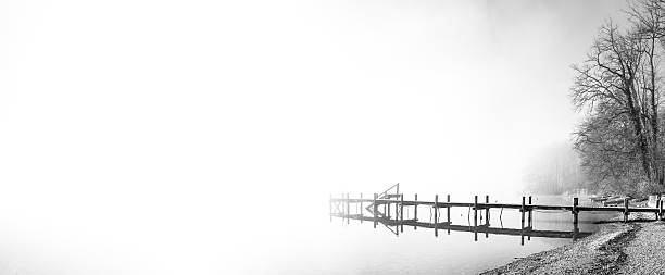 jetty panorama stock photo