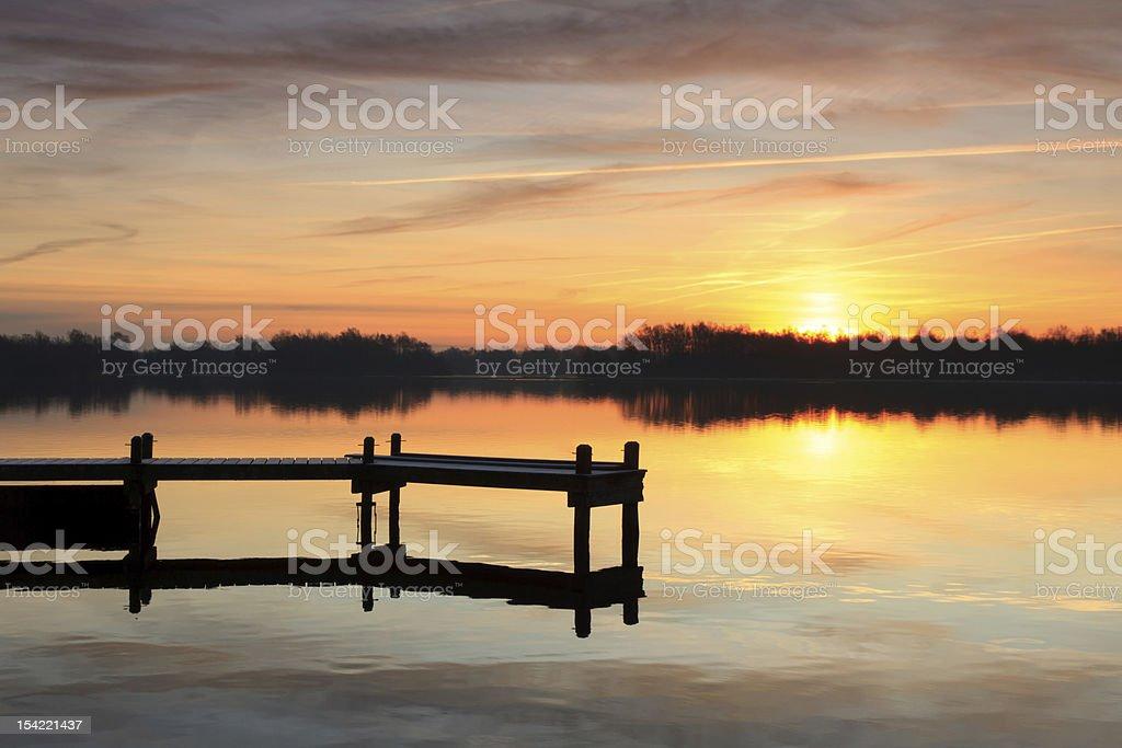 Jetty sunrise royalty-free stock photo