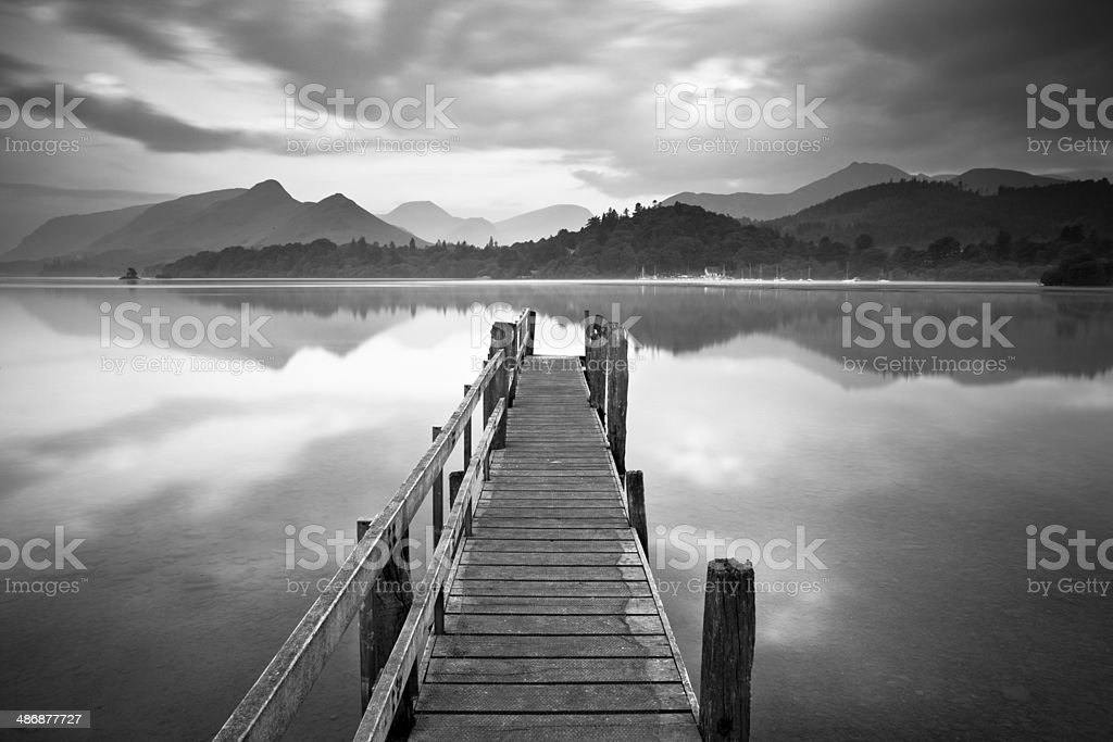 Jetty To The Hills stock photo