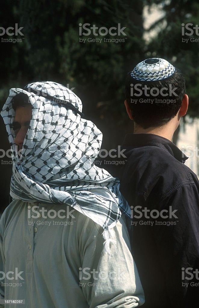 Jew arab israeli palestinian stock photo
