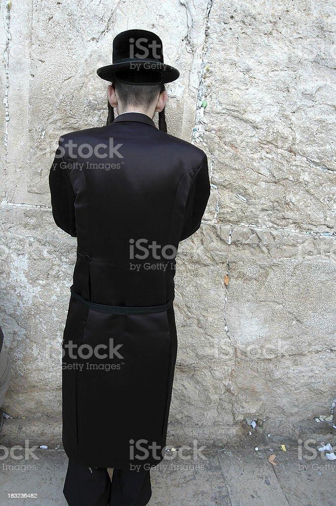 Jew praying royalty-free stock photo