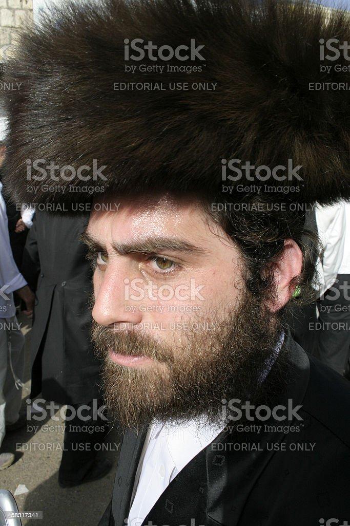 Jew with beard stock photo