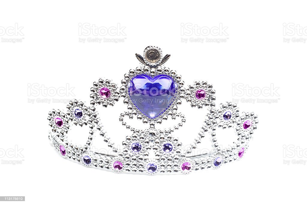 Jewel Crown Isolated on White royalty-free stock photo