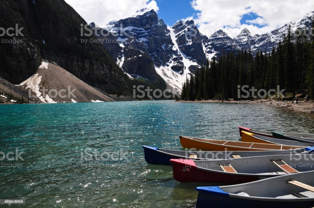Jewel of the lakes. one of the most spectacular landscapes in Banff national part, Alberta, Canada stock photo