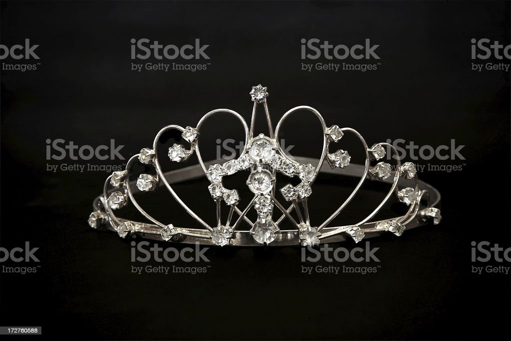 Jeweled tiara stock photo