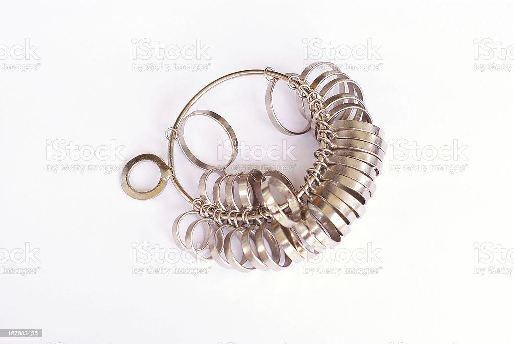jeweler s ring sizer stock photo