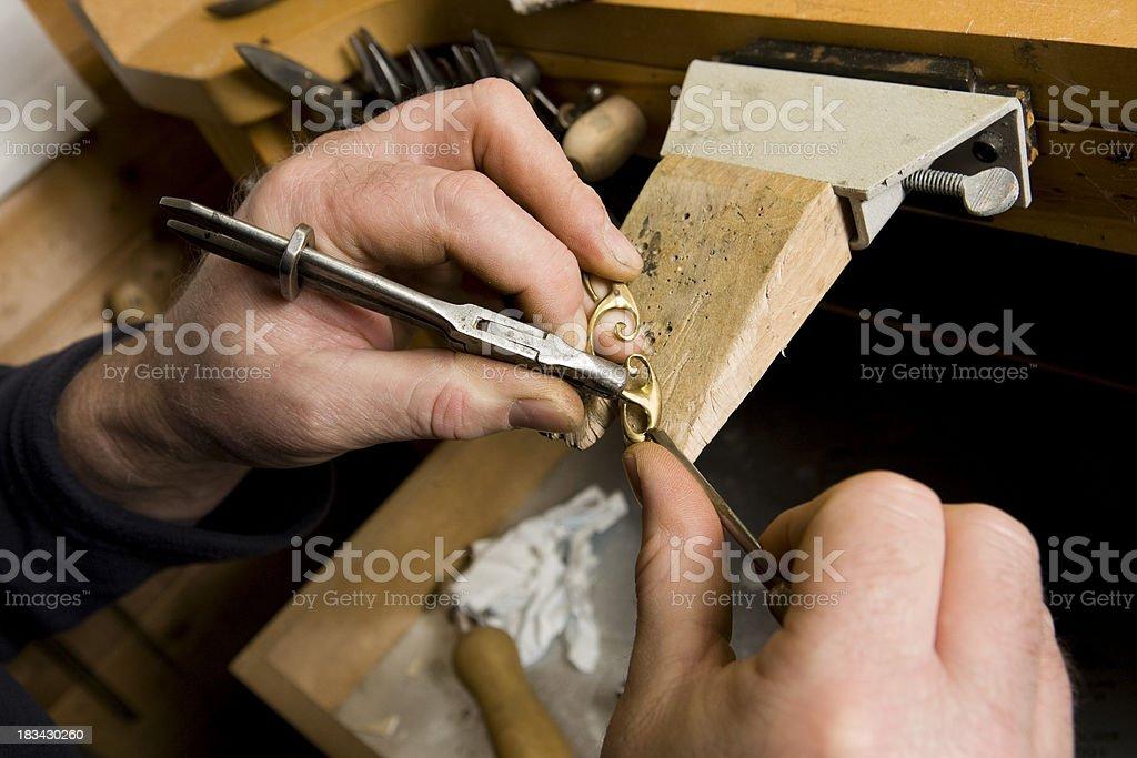 Jeweller working royalty-free stock photo
