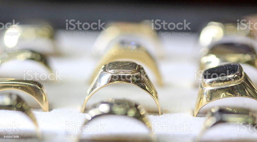 Jewellery ring stock photo
