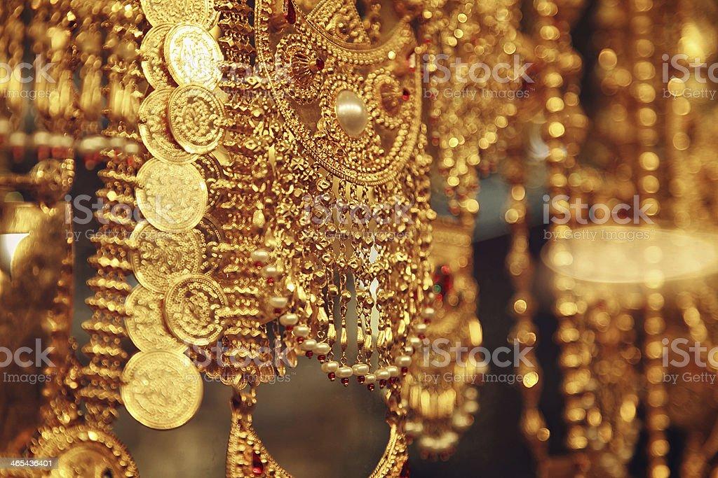 Jewelry at Dubai's Gold Souq stock photo