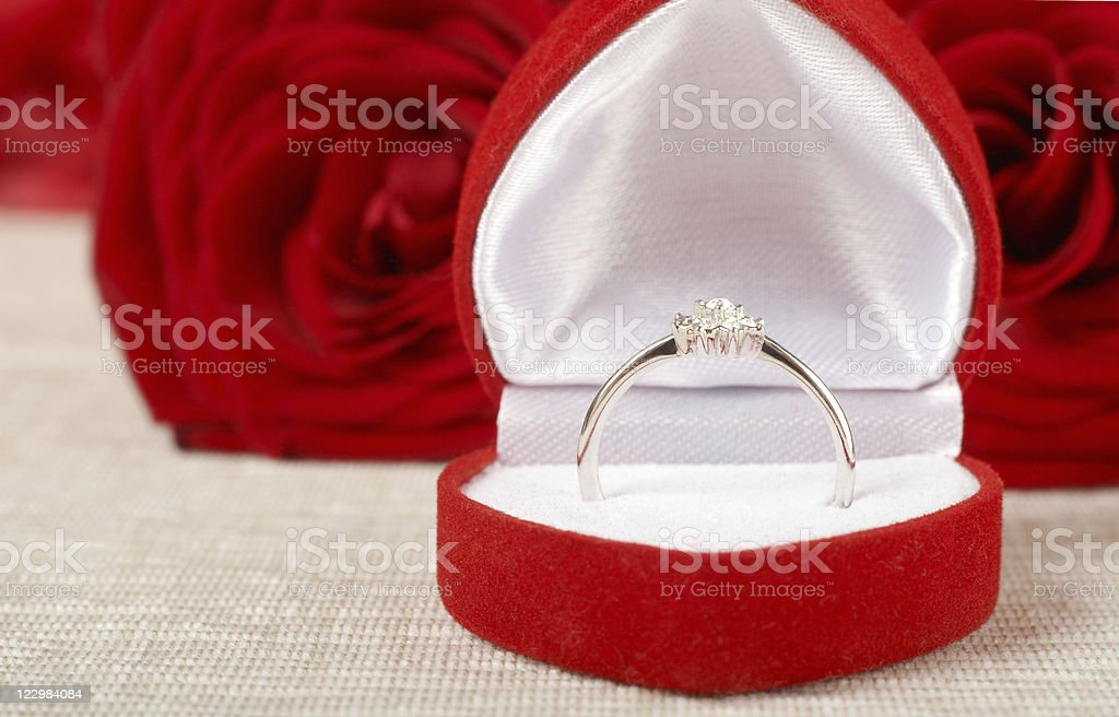 Jewelry box with ring royalty-free stock photo
