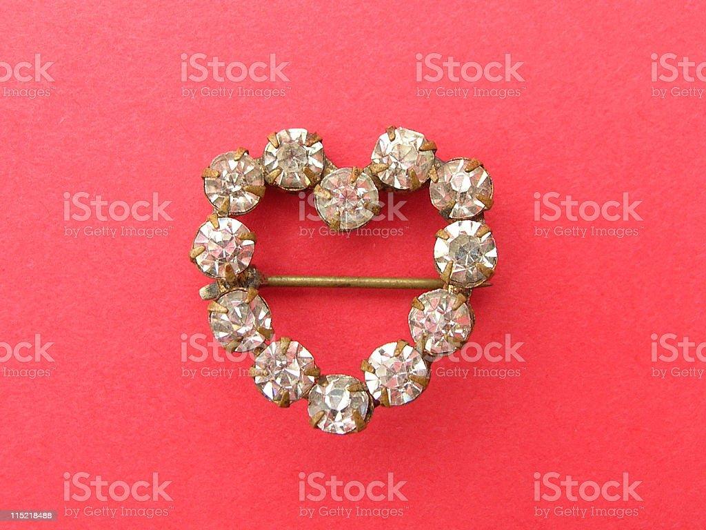 Jewelry: Diamond heart. royalty-free stock photo