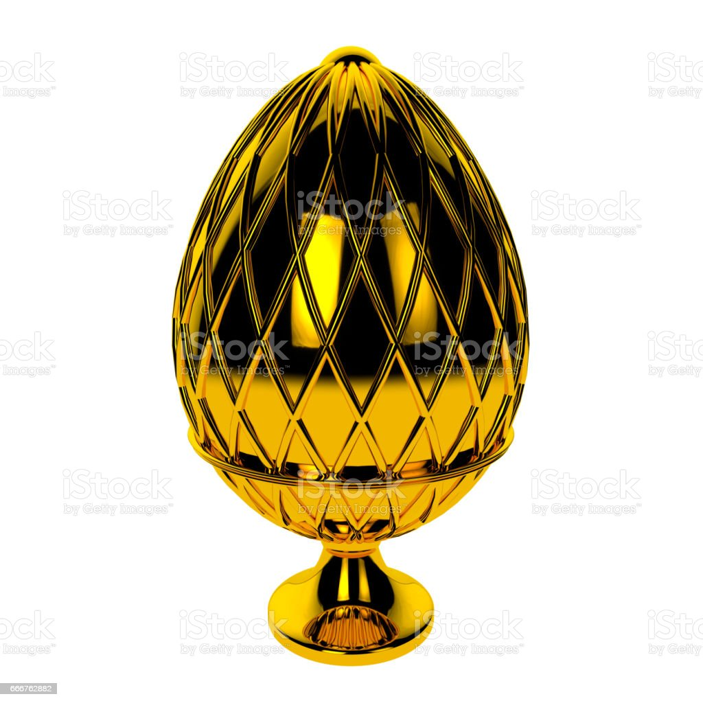Jewelry egg. 3D render foto stock royalty-free
