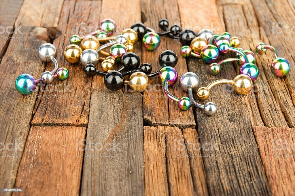Jewelry for piercing stock photo