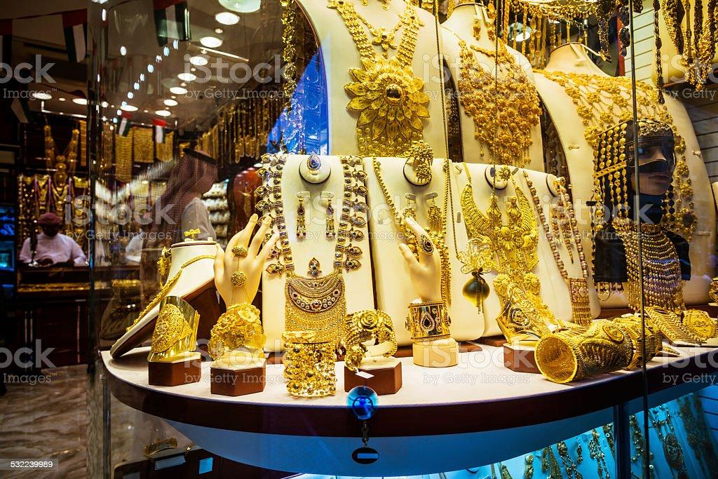 Jewelry, Gold Market stock photo