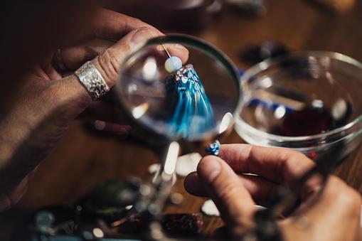 istock Jewelry handmade in workshop 991427116