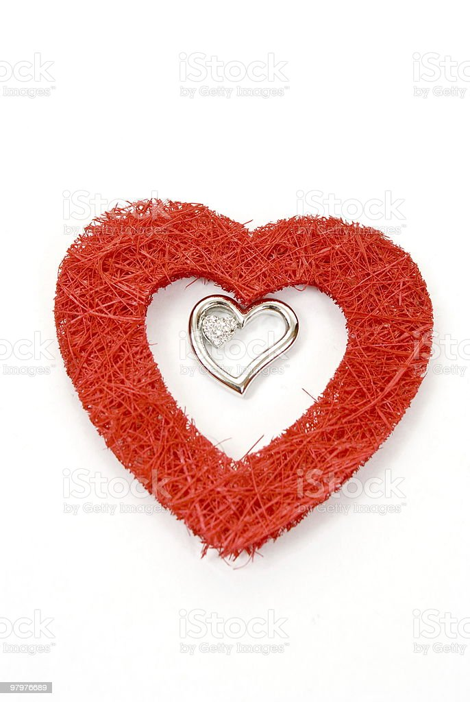 Jewelry heart royalty-free stock photo