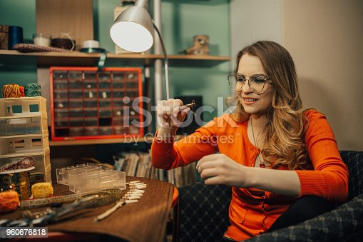 istock Jewelry maker working in the workshop 960676818