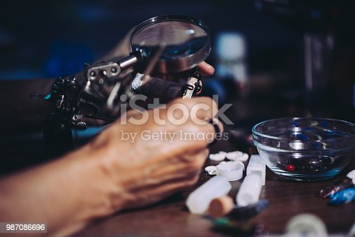 991427116 istock photo Jewelry making in workshop 987086696