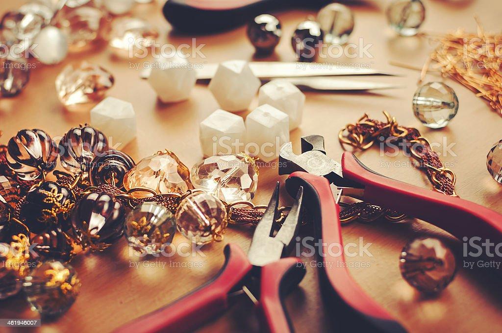 Jewelry making stock photo
