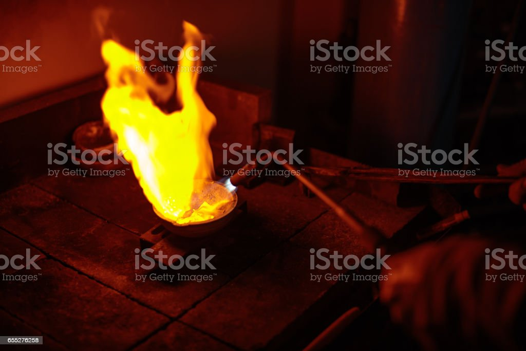 Jewelry manufacture stock photo