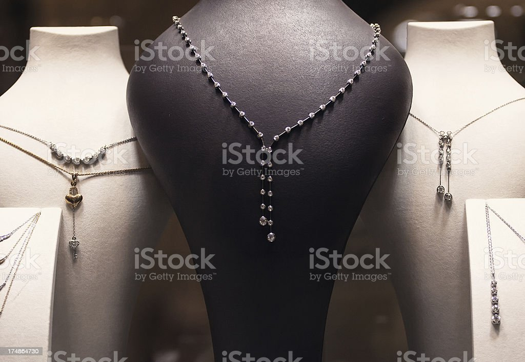 Jewelry market. Diamants royalty-free stock photo