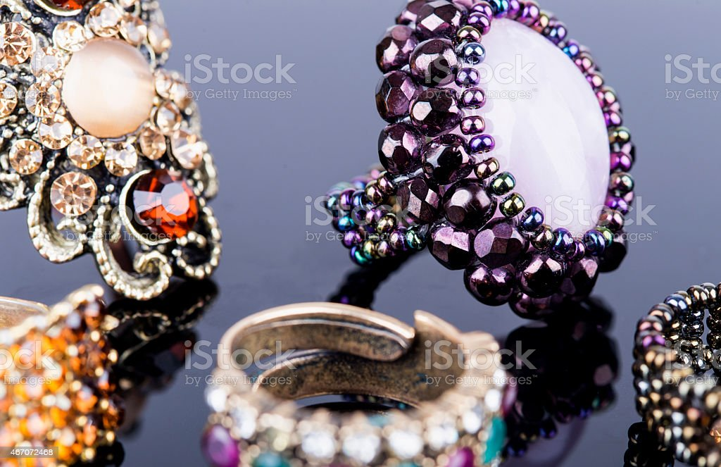 jewelry ring stock photo