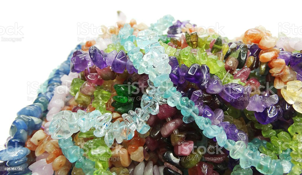 jewelry semigem crystals beads jewellery stock photo